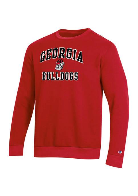Champion® NCAA Georgia Bulldogs Fleece Crew Graphic Sweatshirt