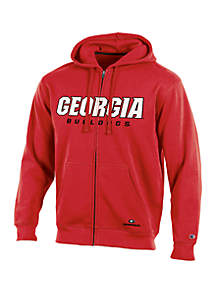 Georgia Bulldogs Full Zip Hooded Fleece Jacket