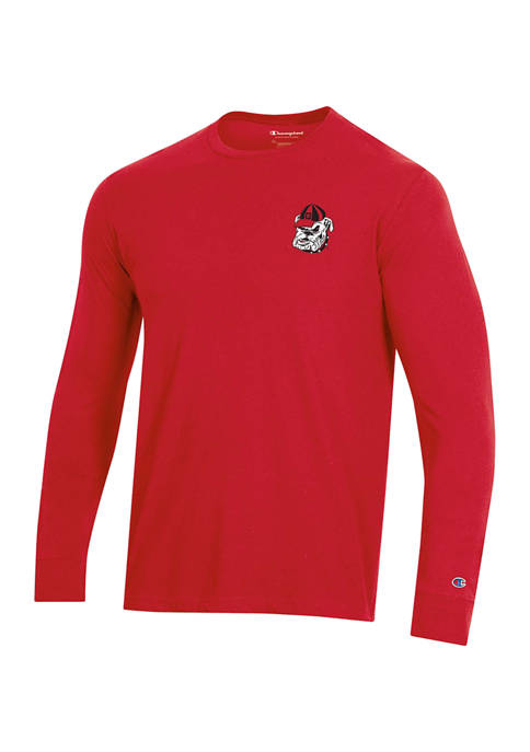 Champion® NCAA Georgia Bulldogs Wordmark Long Sleeve Graphic