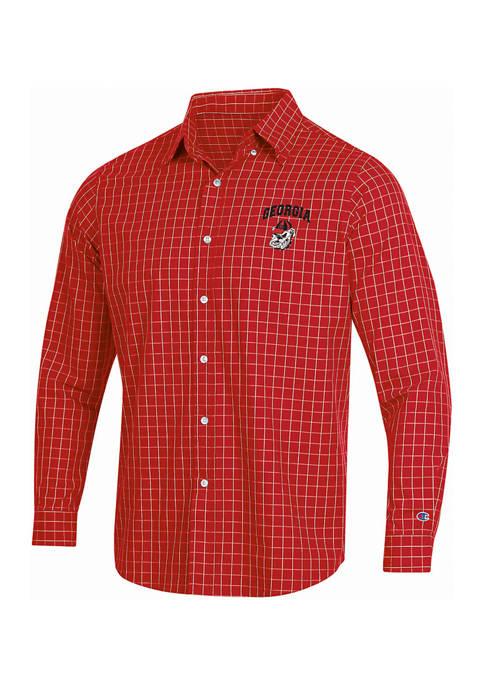 Champion® NCAA UGA Bulldogs Button Down Woven Shirt
