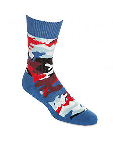 Happy Socks® Athletic Red White and Blue Camo Socks - Single Pair