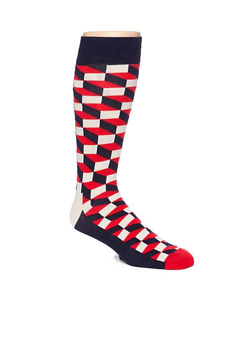 Happy Socks® Big & Tall Filled Optic Crew