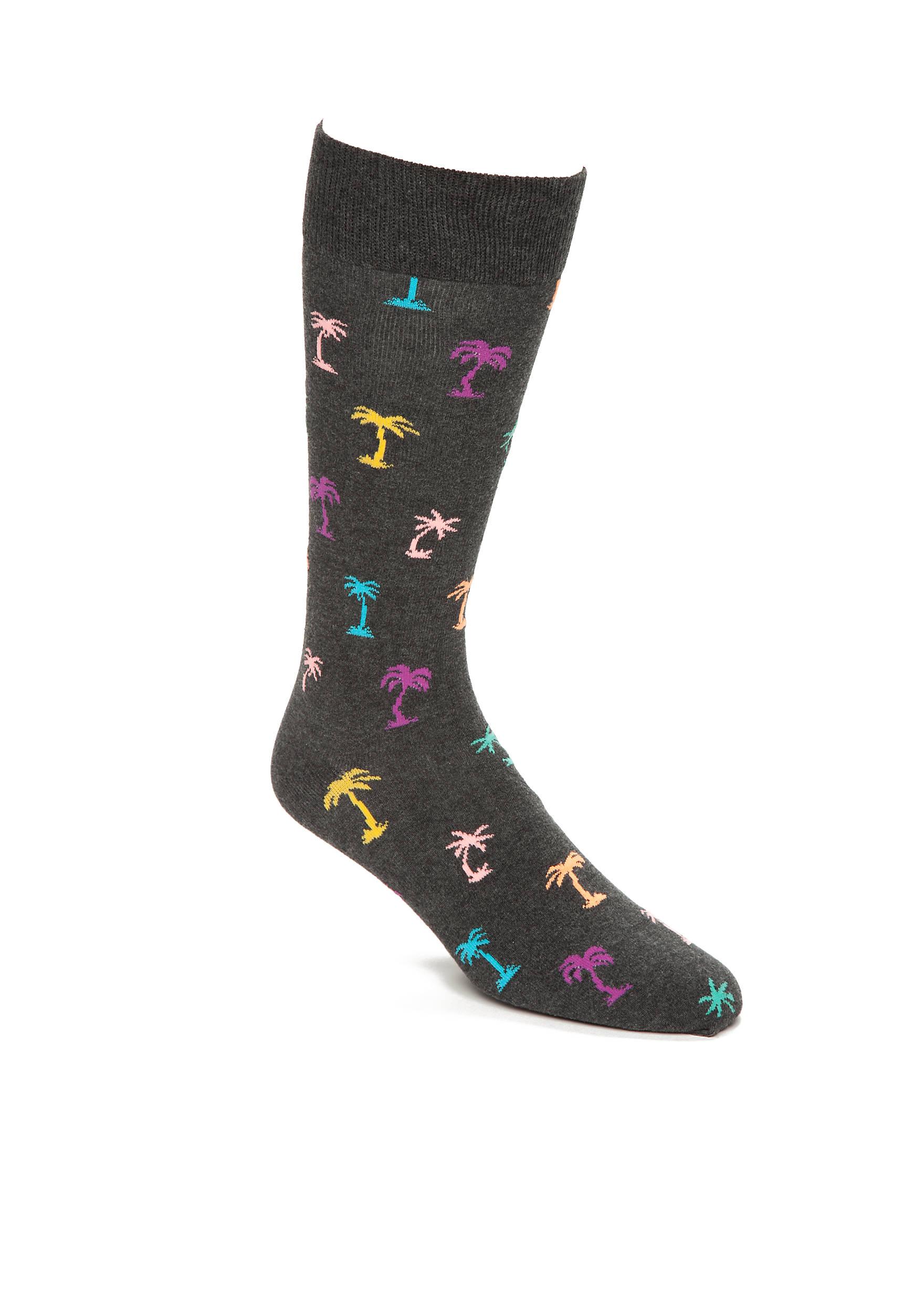 Happy Socks Big Tall Mini Palm Trees Socks Single Pair Belk