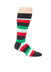 Happy Socks® Christmas Rugby Stripe Crew Socks - Single Pair