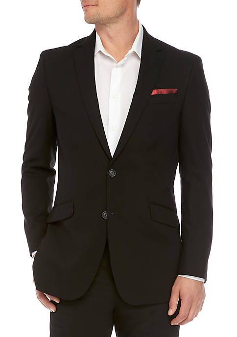 Billy London Black Solid Suit Separate Coat