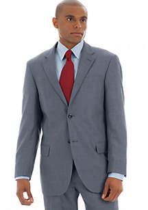 Classic Fit Gray Sharkskin Suit Separate Coat