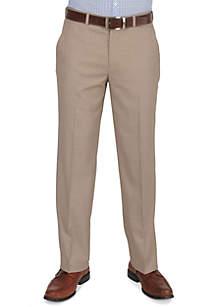 Essentials Straight Fit Flat Front Dress Pants