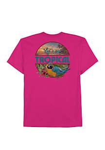 Saddlebred® Big & Tall Lets Get Tropical T Shirt