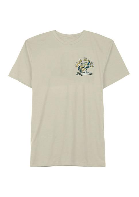Big & Tall Short Sleeve Big Bass Graphic T-Shirt