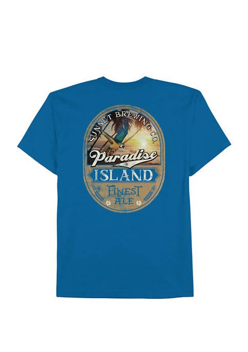 Saddlebred® Mens Short Sleeve Paradise Ale Graphic T-Shirt