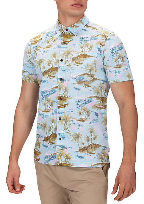 Outrigger Smiley Short Sleeve Shirt