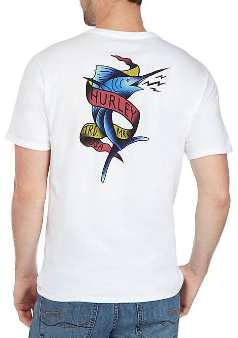Hurley® Short Sleeve Marlin Graphic T Shirt