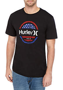 Hurley® Short Sleeve Prime One and Only Circle Stars T Shirt