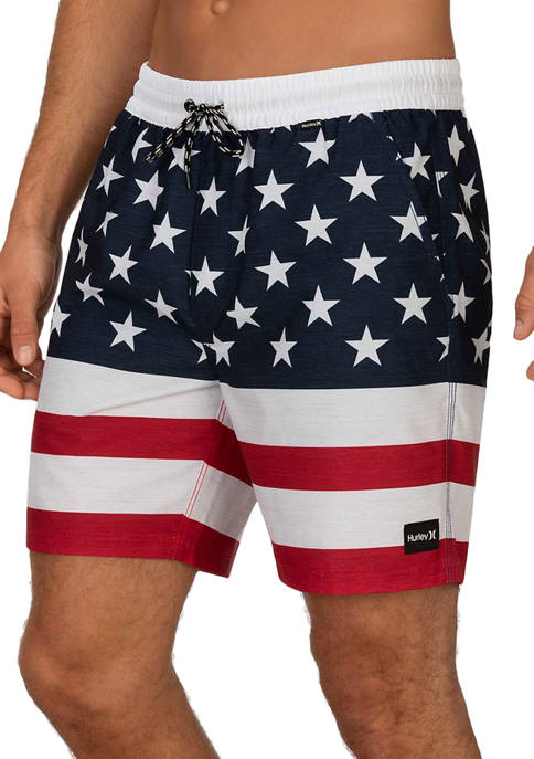 Hurley® 18 Inch Patriot Volley Swim trunks