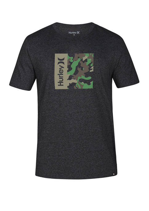 Hurley® All Over Camouflage Box Short Sleeve Graphic