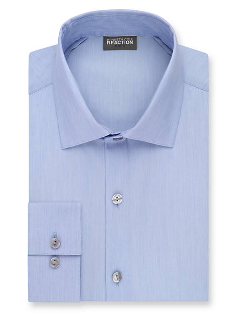 Kenneth Cole Reaction Slim-Fit Techni-Cole Stretch Dress Shirt
