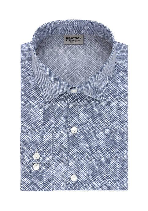 Kenneth Cole Reaction Slim Fit Technicole Dress Shirt