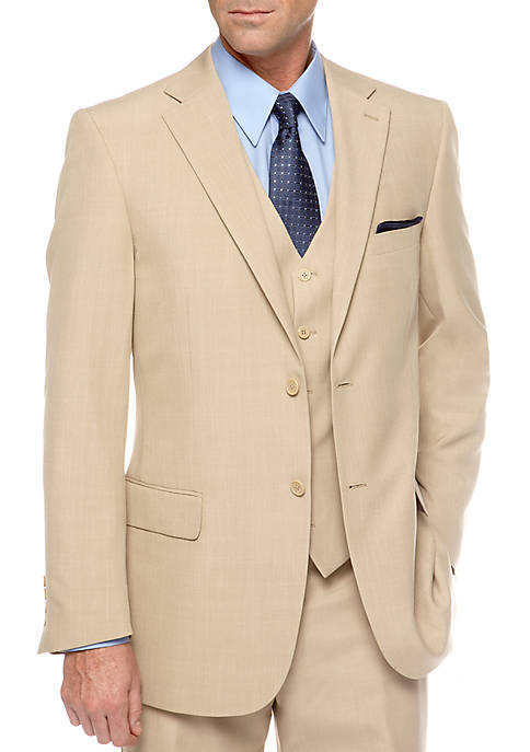 Saddlebred® Classic Fit Tan Stria Suit Separate Coat