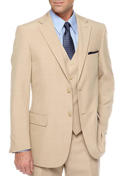 Saddlebred® Classic Fit Tan Stria Suit Separate Coat