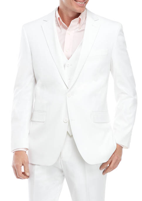 Saddlebred® Mens White Suit Separate Coat