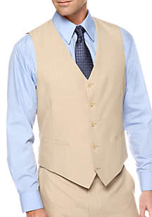 Classic Fit Tan Stria Suit Separate Vest