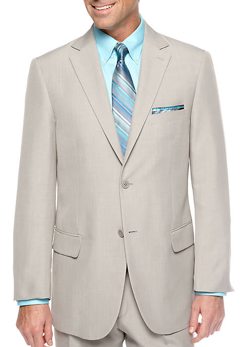 Saddlebred® Classic Fit Sage Gray Stria Suit Separate