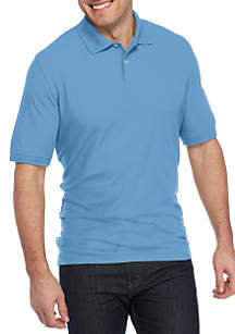 Big & Tall Short Sleeve Solid Basic Pique Polo Shirt
