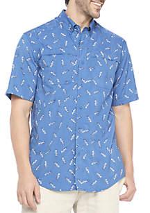 Short Sleeve Fish Bone Shirt