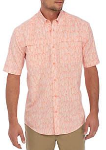 Short Sleeve Fronds Fishing Shirt