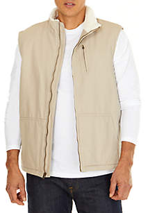Sherpa Lined Canvas Vest