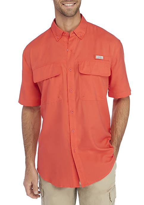 Solid Short Sleeve Fishing Shirt