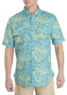 Ocean & Coast® Printed Short Sleeve Fishing Shirt