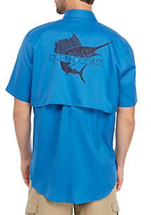 Ocean & Coast® Short Sleeve Graphic Fishing Shirt