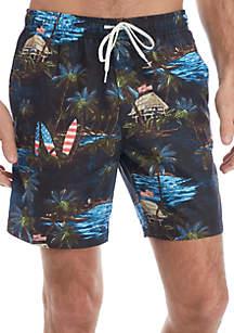 Ocean & Coast® Printed Swim Trunks