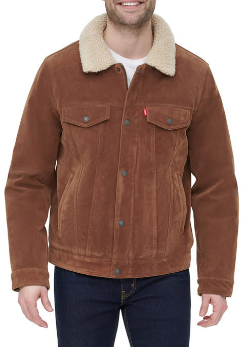 Levi's® Faux Suede Trucker Jacket with Sherpa Lining