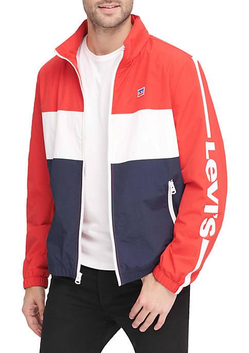 Levi's® Lightweight Color Blocked Stand Collar Taslan Jacket
