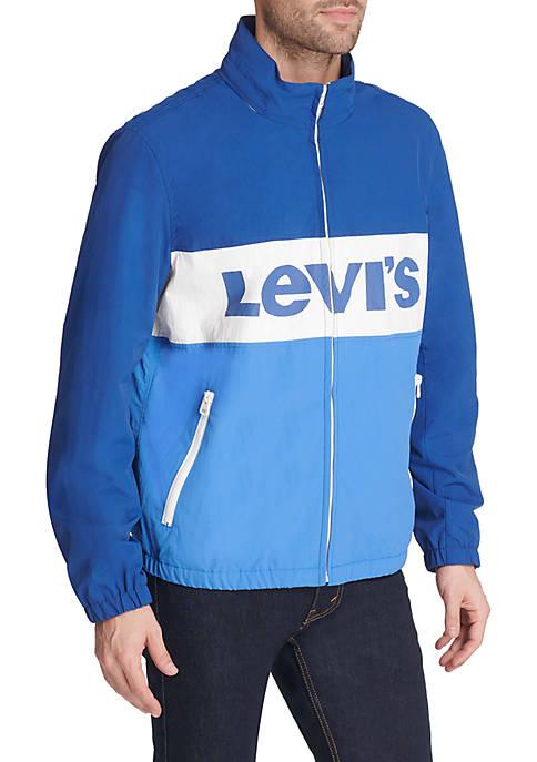 Levi's® Lightweight Color Blocked Stand Collar Taslan Logo