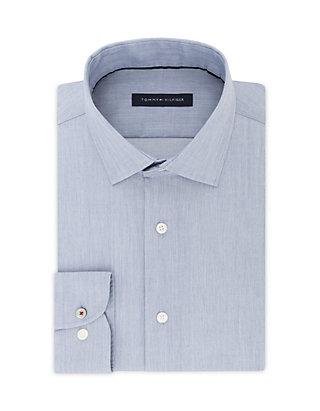 3fa2fe17 Tommy Hilfiger. Tommy Hilfiger Slim Fit Supima Stretch Solid Dress Shirt