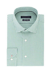 Slim Stretch Gingham Spread Dress Shirt