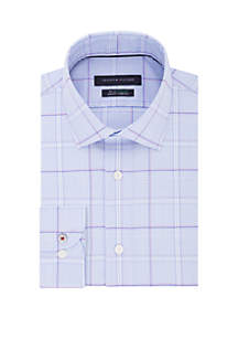 a6338814 ... Tommy Hilfiger Slim Fit Supima Stretch Plaid Dress Shirt