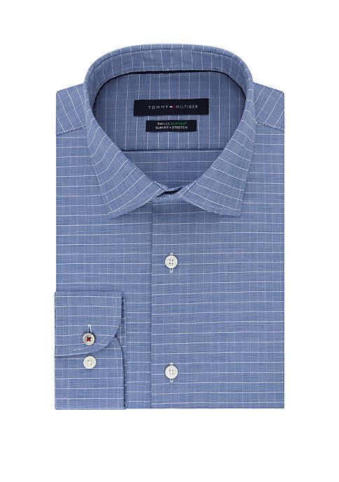Tommy Hilfiger Slim Supima Stretch Check Dress Shirt