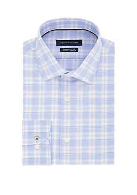 a149b04af Tommy Hilfiger Slim Supima Stretch Plaid Dress Shirt ...
