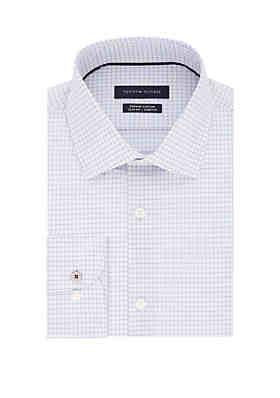 e5a84915 Tommy Hilfiger Slim Supima Stretch Mini Check Dress Shirt ...