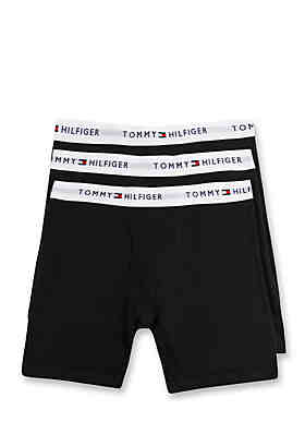 be35480356733 Tommy Hilfiger Solid Boxer Briefs - 3 Pack ...