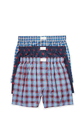 9cf41f86bcf Tommy Hilfiger Woven Core Boxer Set 3-Pack ...