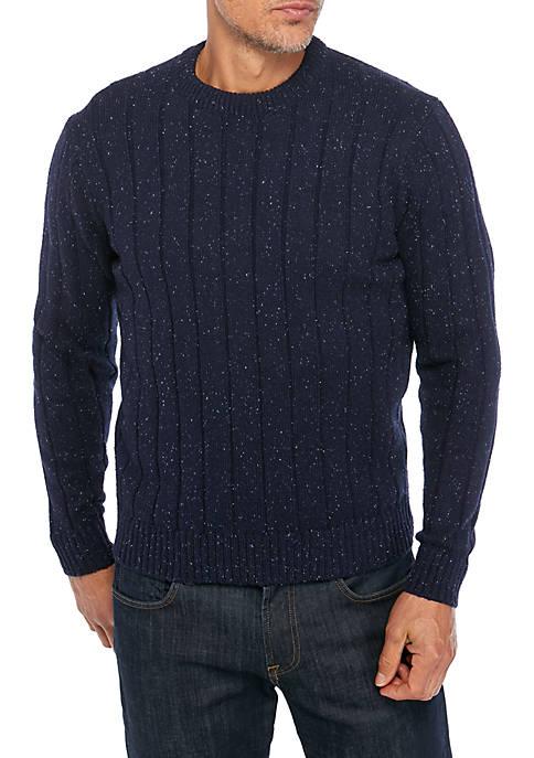 Saddlebred Men's Donegal Crew Neck Sweater