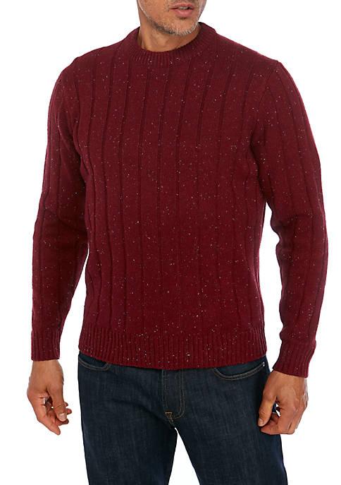 Saddlebred® Donegal Crew Neck Sweater