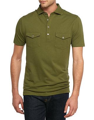 Short Sleeve Two Pocket Polo Shirt