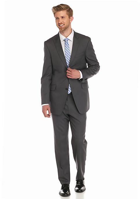 Classic-Fit Solid 2-Piece Suit