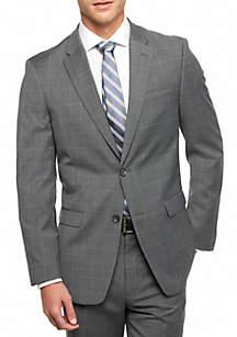 Classic Fit Windowpane Suit Separate Coat